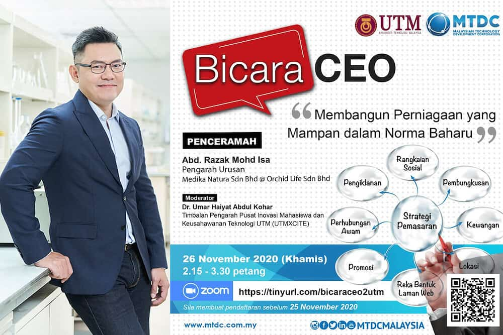 Medika Natura CEO draws record attendees to University Technology Malaysia (UTM) MTDC Bicara CEO lecture